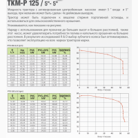 НАСОС от ВОМ трактора: Ekler ТКМ-Р 125 (5″-5″; 75 Hm; 194 м3/час)