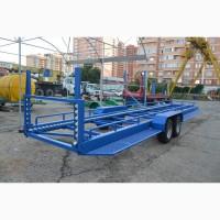 Тележка для садовых контейнеров КПС-9 роликовый с балансиром