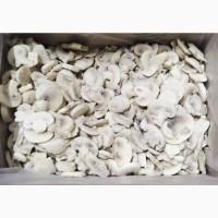 Шампиньоны быстрозамороженные резаные в п/э пакетах 25кг, производства Республики Беларусь