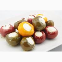 Маринованные в ассортиме перчики Томато фаршированные сливочным сыром 1, 8 кг (сухой вес