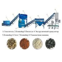Линия гранулирования органического удобрения из навоза помета, пищевых отходов, барды, грязи